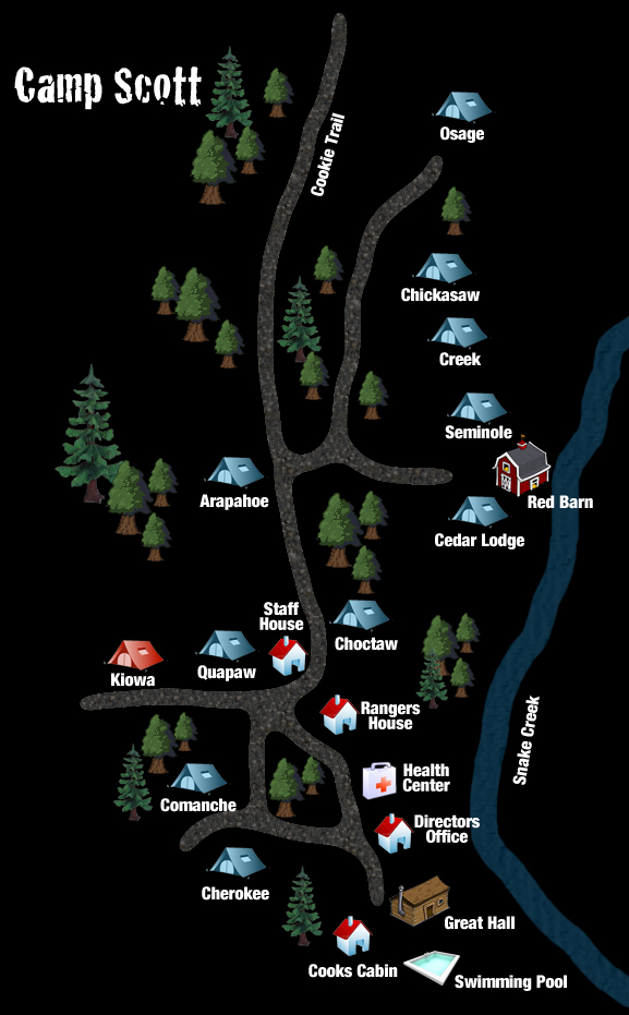 Camp Scott Map